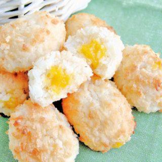 coconut macaroon easter eggs