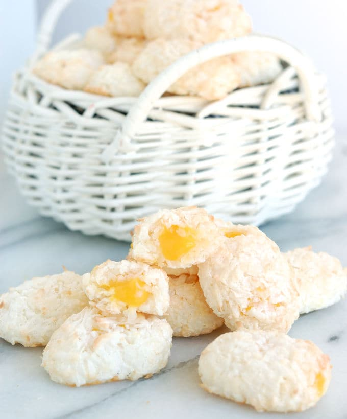 coconut macaroon easter eggs