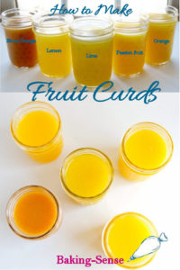a pinterest image for making fruit curds
