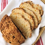 a sliced loaf of Oatmeal Soda Bread