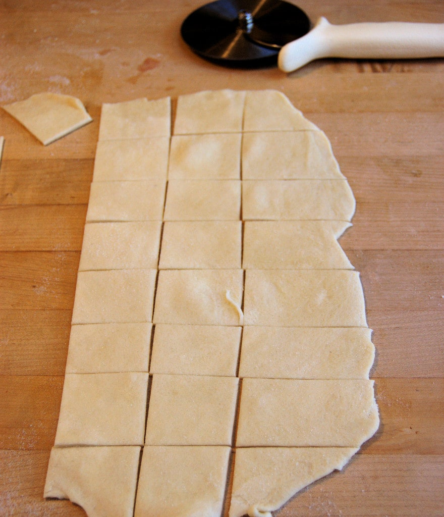 The dough can be cut into any shape. Don't worry if they're not perfect, they'll go so fast you won't have time to look at them.