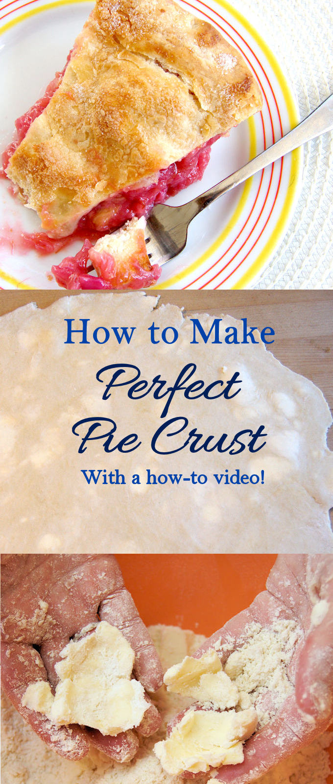 Learn how to make perfect pie crust. Watch a how to video and learn about a special ingredient that makes the crust so flaky.