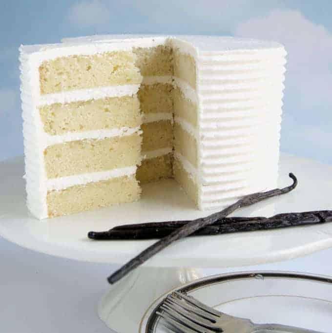 A 4 layer vanilla layer cake