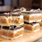 Chocolate Caramel Crackle Bars