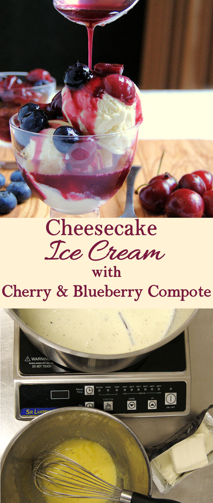 If you love cheesecake with fruit, you'll love this ice cream. The red, white & blue color makes it perfect for summer holiday parties.