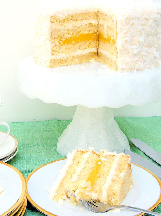 coconut cake and slice
