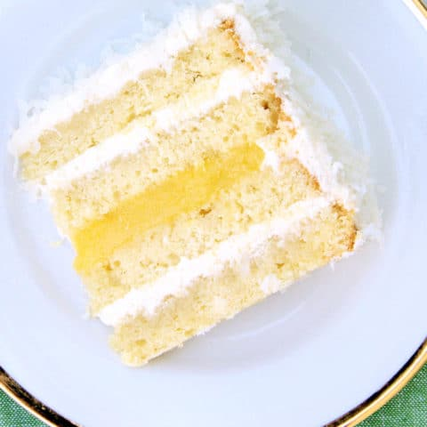 Dreamy Coconut Passion Fruit Cake