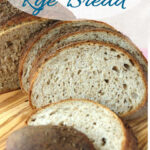 a pinterest image for overnight rye bread
