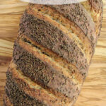 a pinterest image for a rye bread recipe