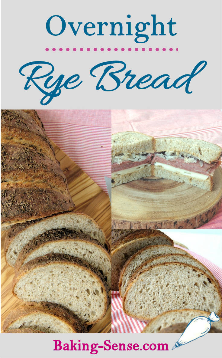 Start the night before to have fresh bread for lunch. Overnight Rye Bread can be made with a sourdough starter or a quick starter.
