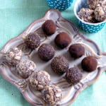 a plate of Chocolate Ganache truffles