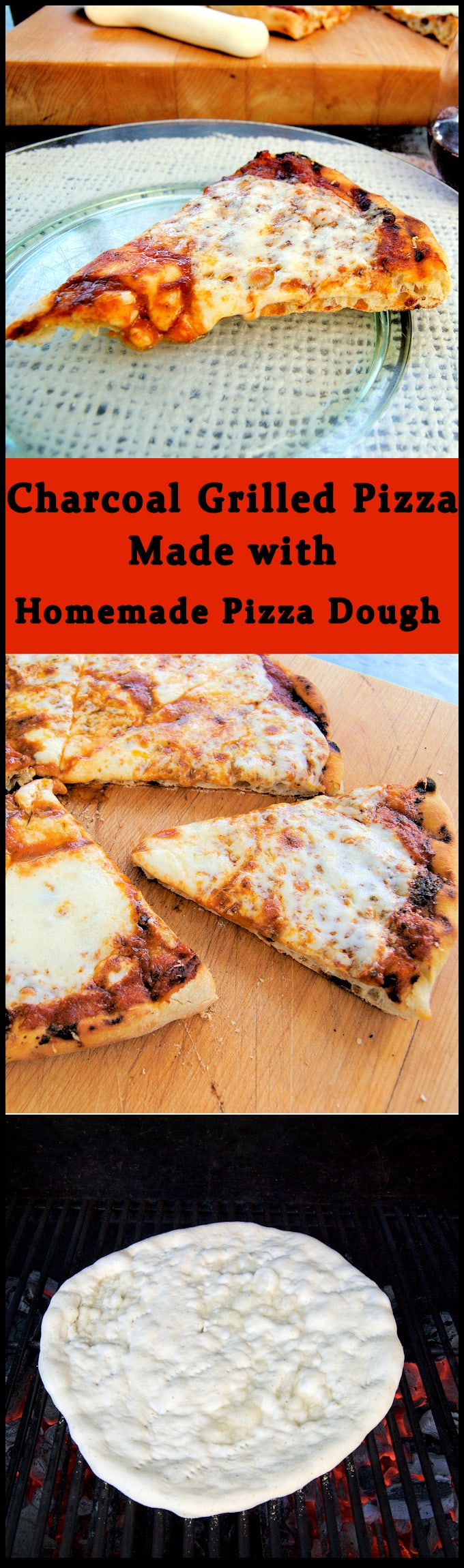 Charcoal Grilled Pizza is the best pizza you'll ever eat! Make homemade pizza dough, gather up your toppings and fire up the grill. See step by step photos and instructions for grilled pizza success.