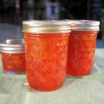 jars of Sour Cherry Preserves