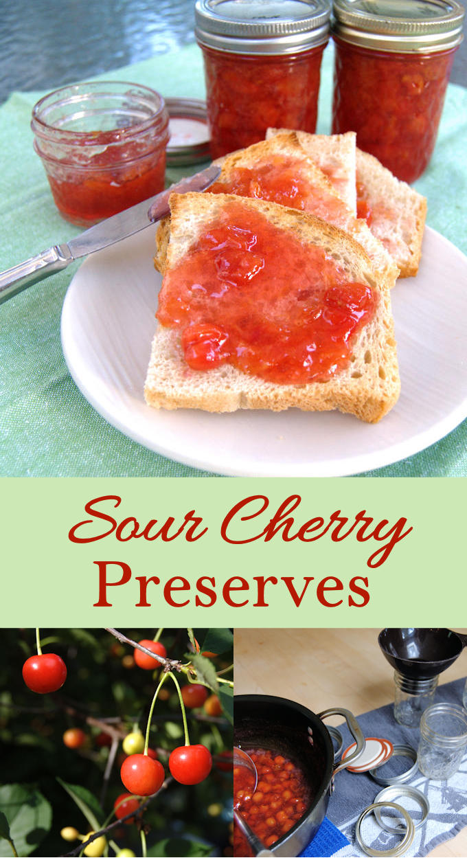 You need just 3 ingredients to make homemade sour cherry preserves.