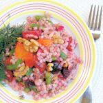 barley salad with beets