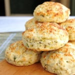 a stack of zucchini biscuits
