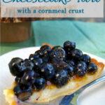 pinterest image for blueberry cheesecake tart