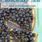 a pinterest image for blueberry cheesecake tart