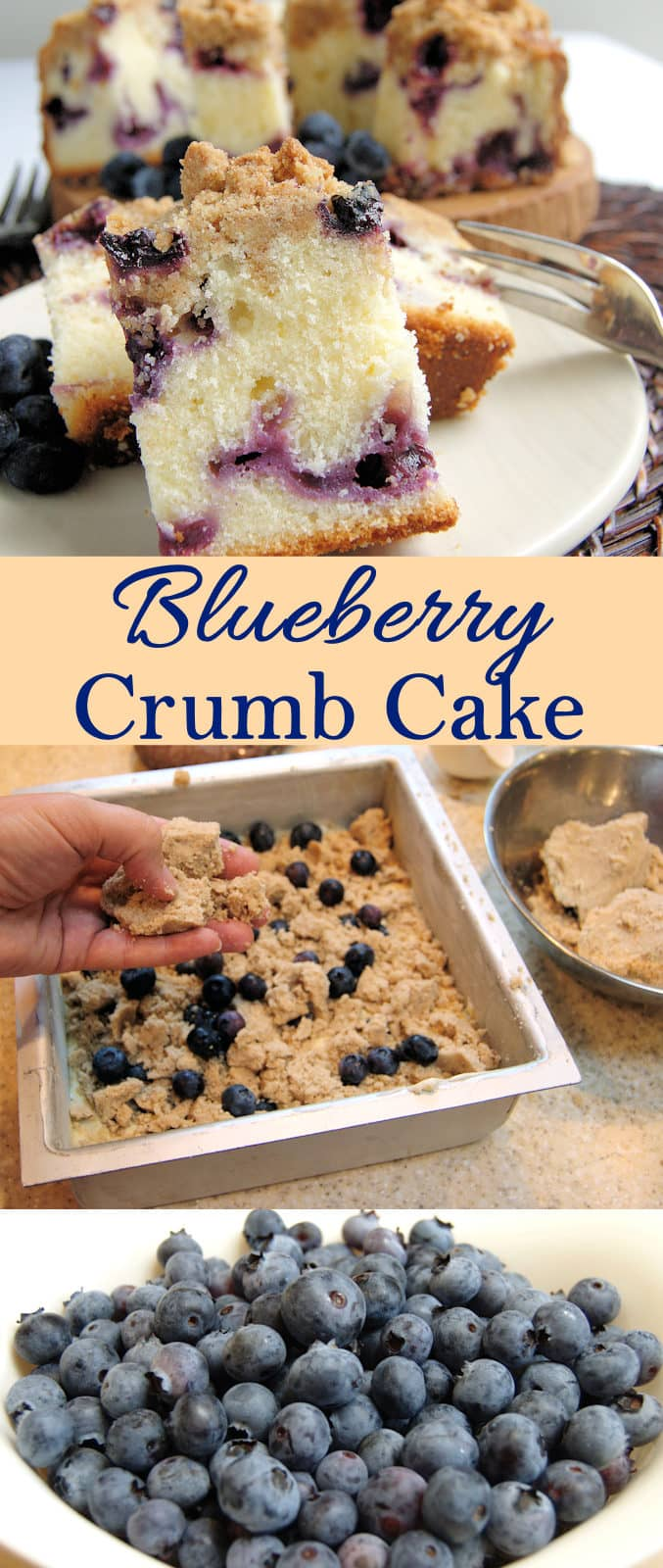 Delicious and easy to make Blueberry Crumb Cake. Find out how to make the perfect crumb topping.