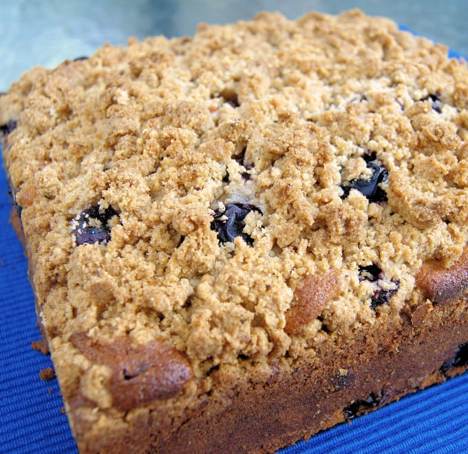 a Blueberry Crumb Cake