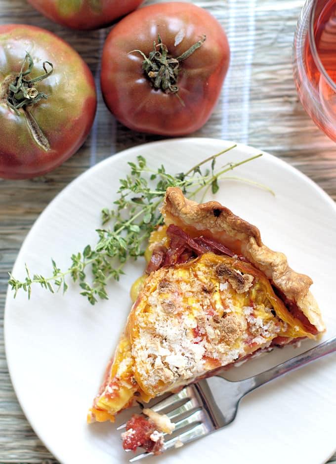 heirloom tomato pie 6