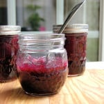a jar of homemade Blueberry Preserves
