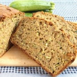 a slice of zucchini bread