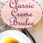creme brulee image for pinterest