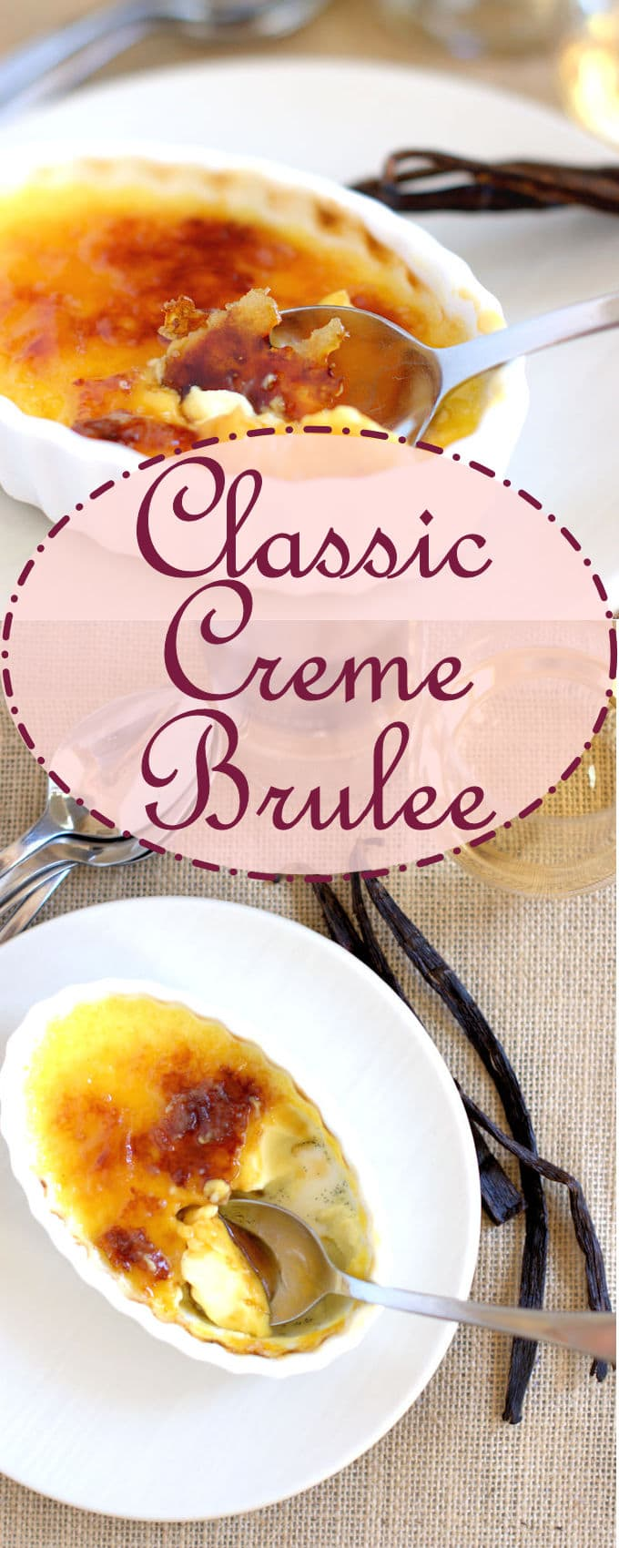 Perfect creamy custard topped with crackly caramelized sugar.