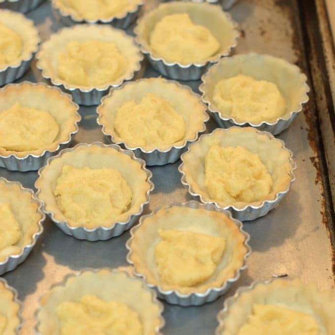 filled tartlette pans