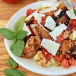 a pinerest image for grilled panzanella salad