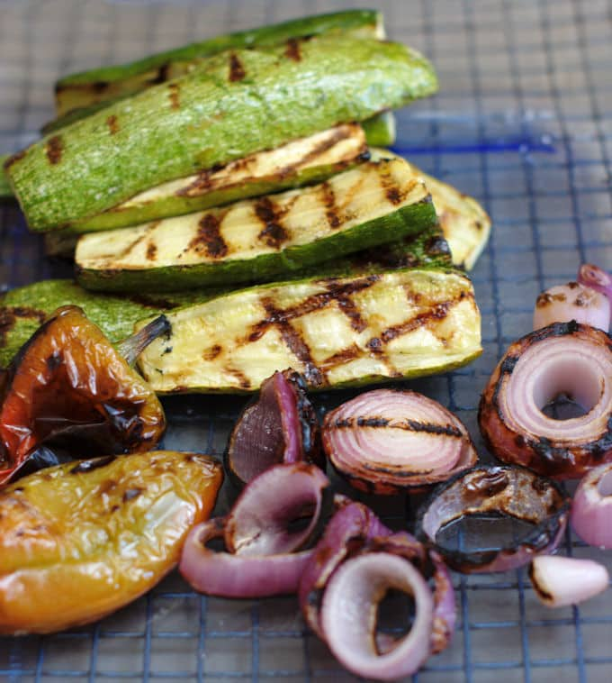 grilled veggies for panzanella
