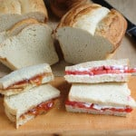 BLT and PB&J on white bread