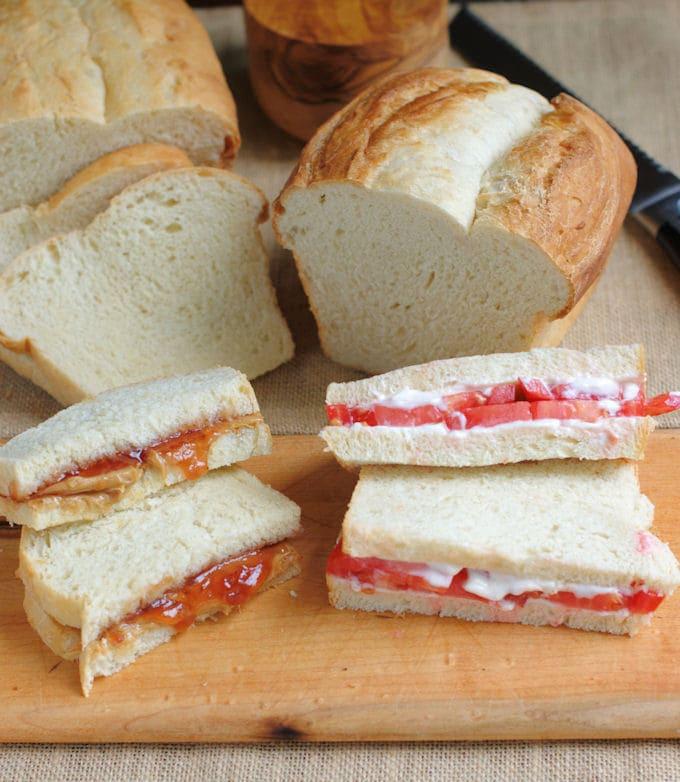 BLT & PBJ sandwiches