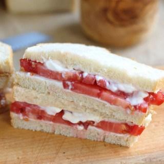 a tomato sandwich