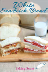 a pb&j sandwich and a tomato sandwich. Image has text overlay for pinterest
