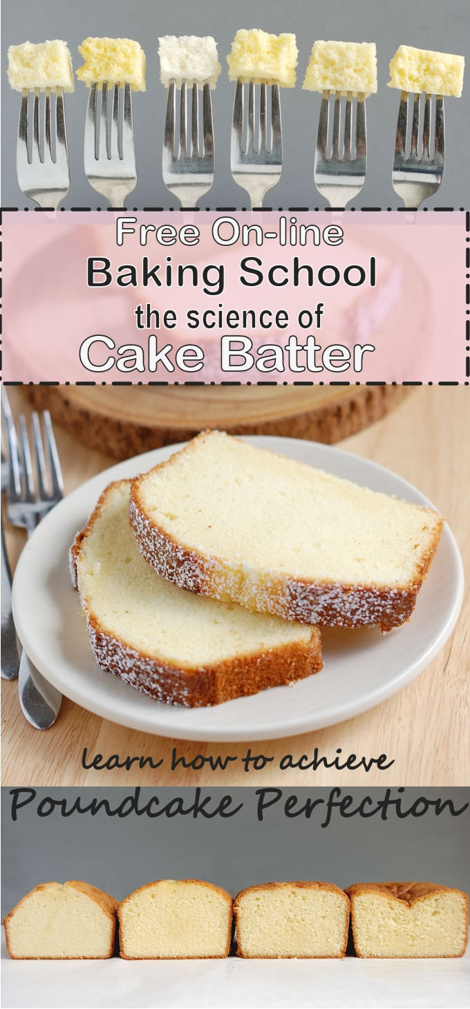 Free 7 part class all about the science of cake batter. Learn how to fix your cakes and go beyond the recipe.