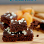 a pinterest image for habanero brownies with text overlay