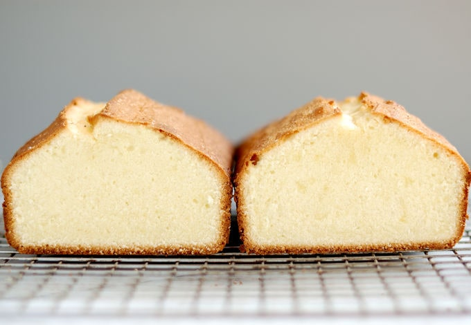 Cake batter made with different mixing methods yields different results