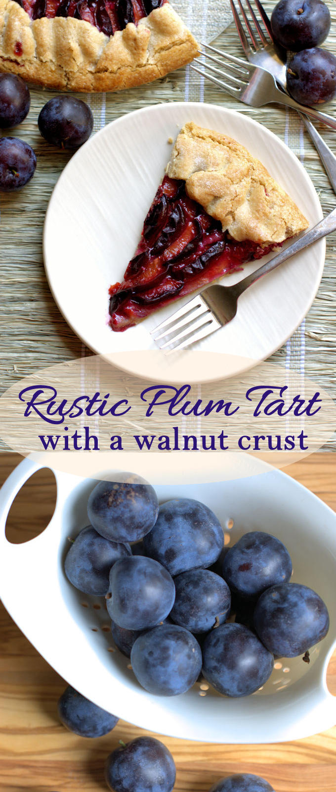 Perfectly simple and perfectly tasty rustic tart made with fresh plums. Easy and fast dessert recipe.