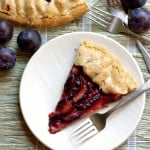 plum tart with walnut crust