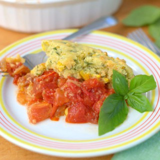 Tomato and Corn Cobbler