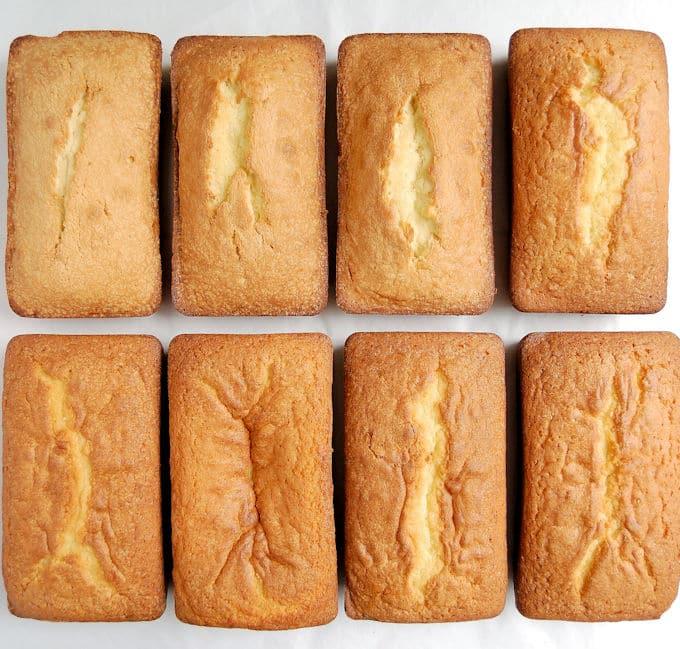 Lots of pound cakes were baked to test salt and leavener amounts. Cake Batter salt & Leaveners