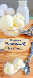 a pinterest image for buttermilk ice cream