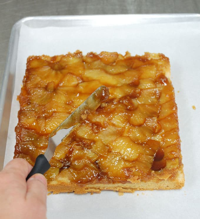warm apple upside down cake