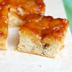 a slice of Apple Rum Upside Down Cake