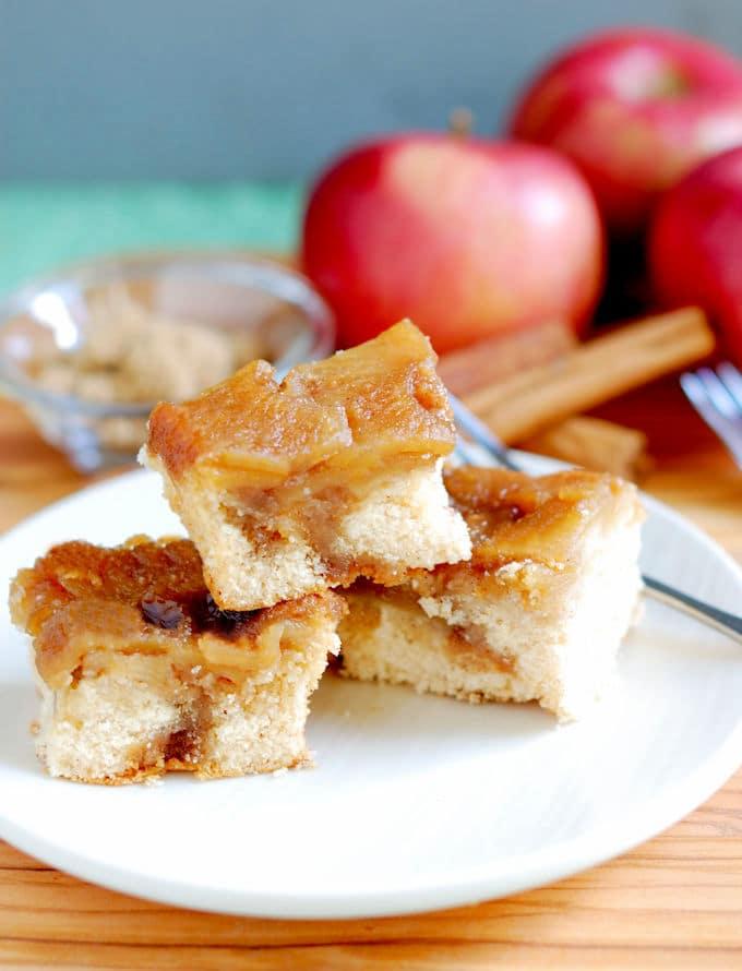 apple rum upside down cake