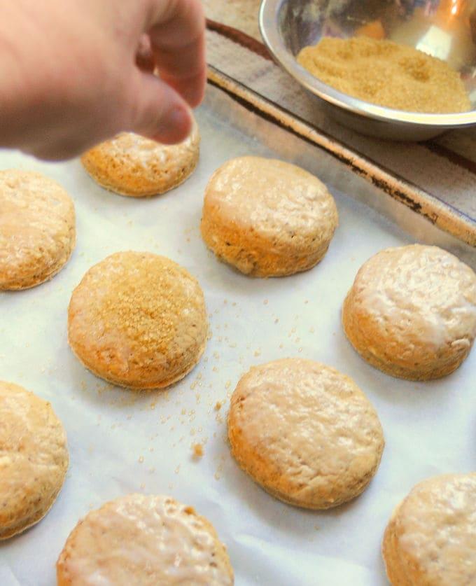 ginger sugar on scones