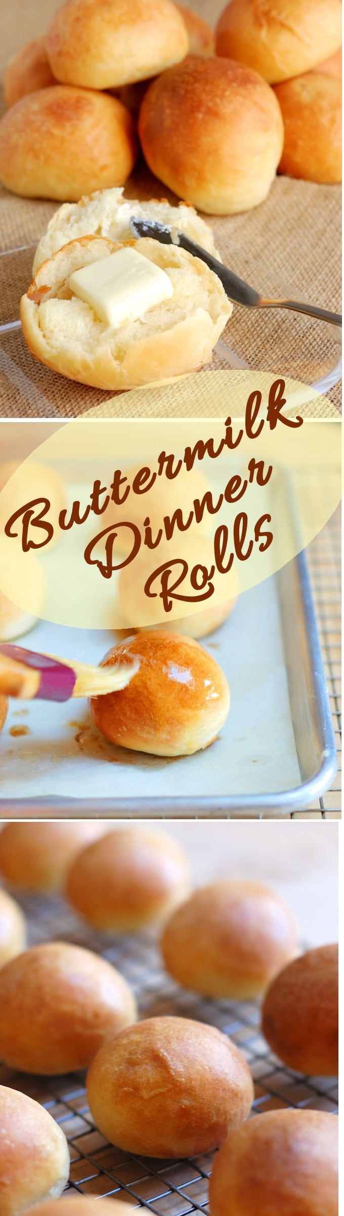 If you want to make the perfect dinner roll, look no further. Buttermilk dinner rollsare soft, buttery, light and luscious.