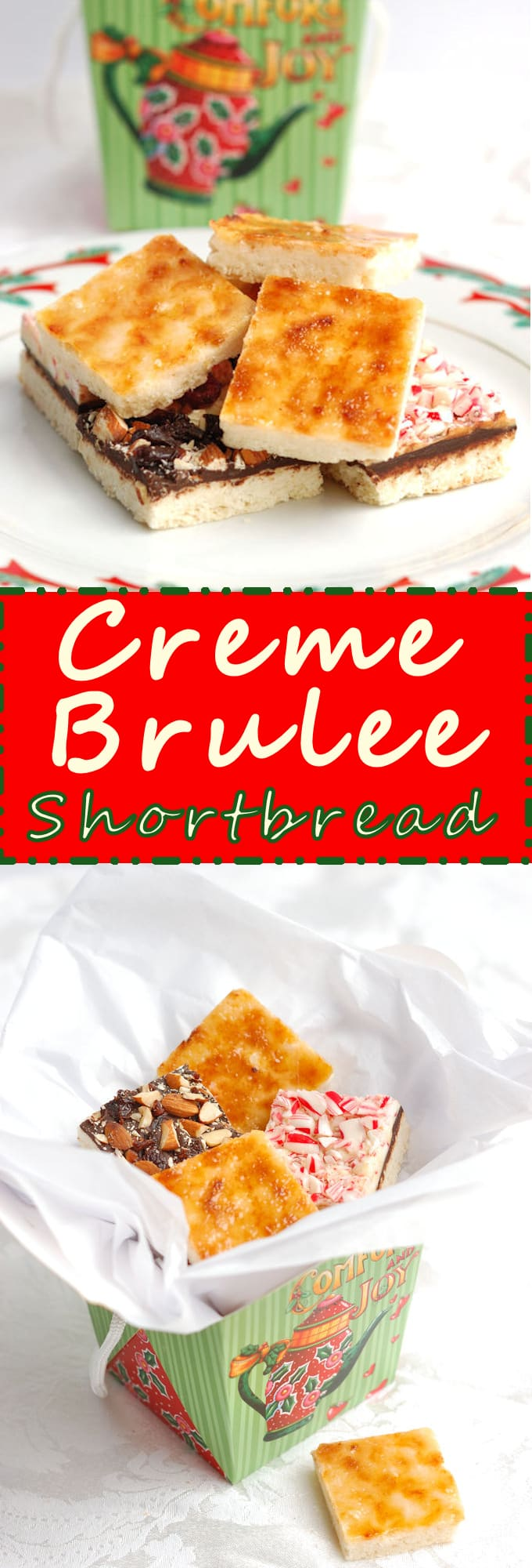 Crackly, crispy caramelized crust makes this shortbread irresistible. The perfect addition to a holiday gift box